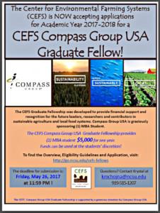 CEFS Compass Group USA Graduate Fellowship – Center for