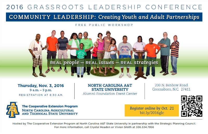 2016 Grassroots Leadership Conference – N.C. A&T, Greensboro NC