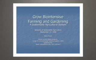 Grow biointensive
